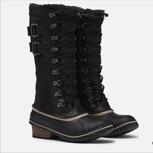 🆕 SOREL tall black waterproof rain winter boots